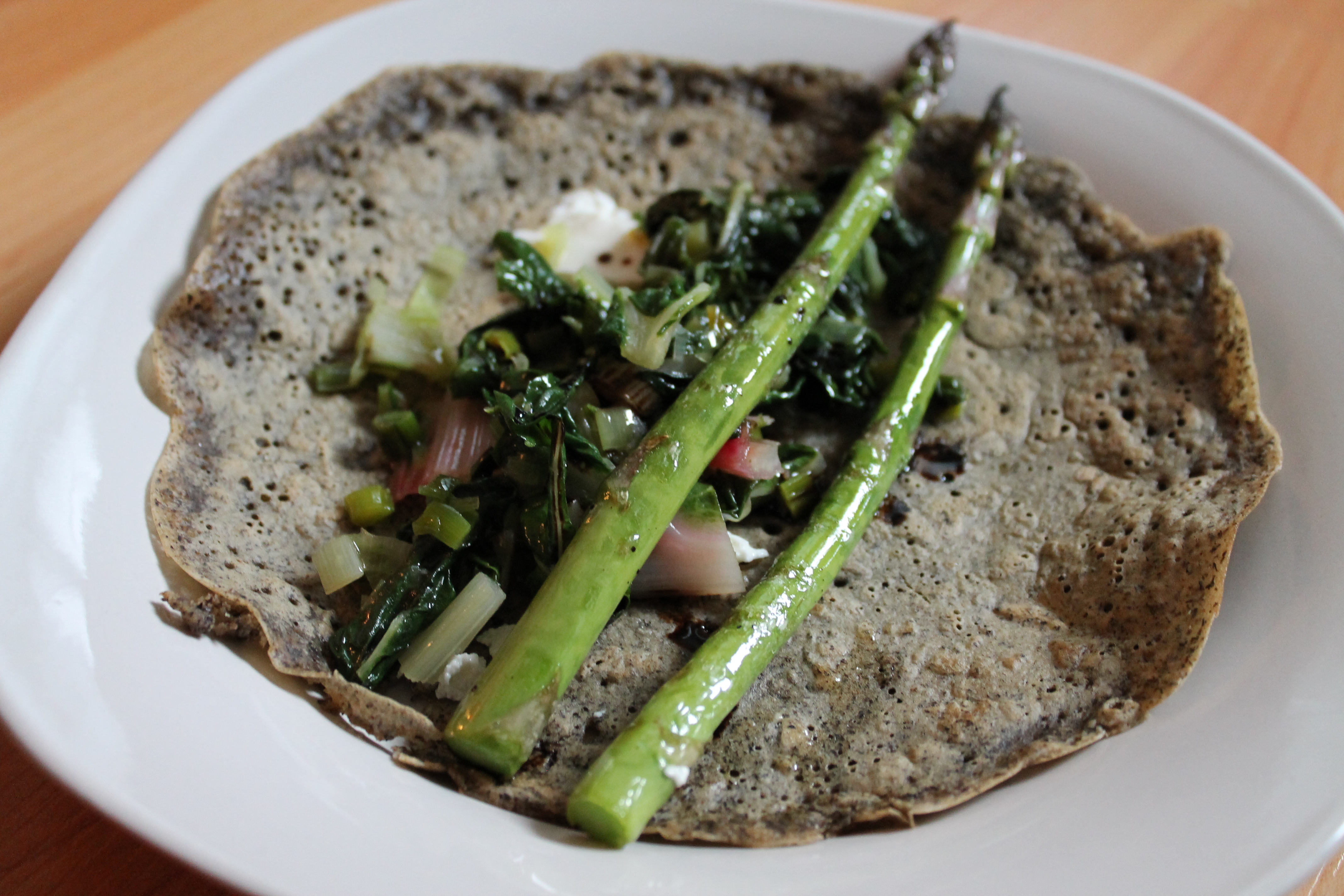 Asparagus & Swiss Chard Crepes (Vegan, Gluten-free) - Cooking By ...