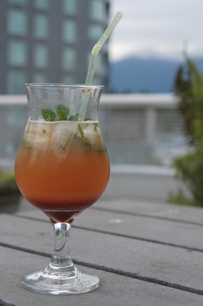 Strawberry-Rhubarb Mojito