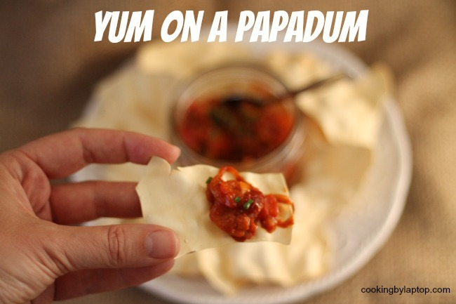 yum on a papadum