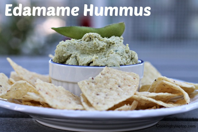 Edamame Hummus (Vegan, Gluten-Free) - Cooking By Laptop