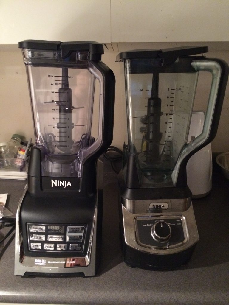 On the right, my old Ninja Pro. On the left, the new Nutri Ninja.