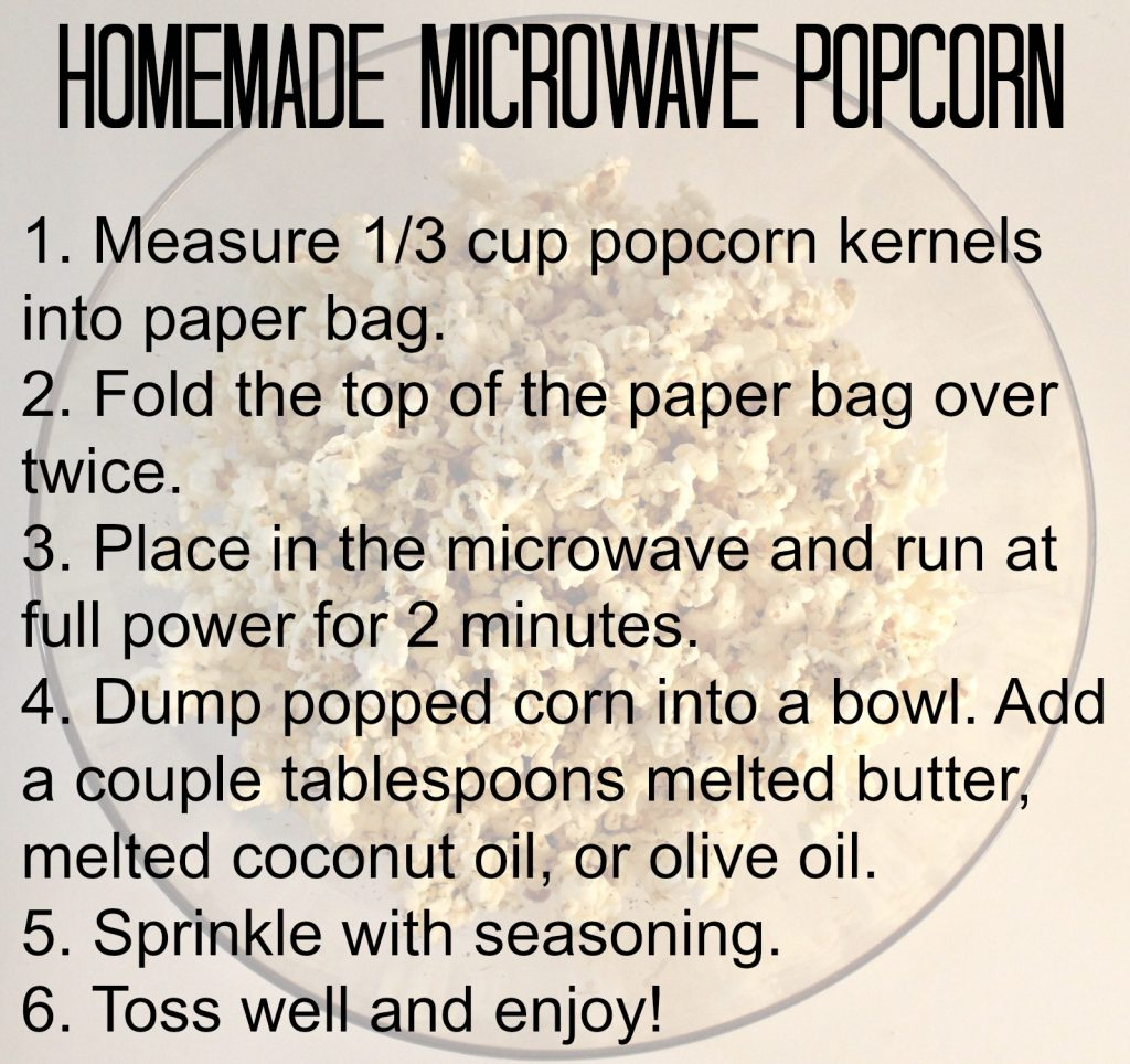 microwave popcorn info