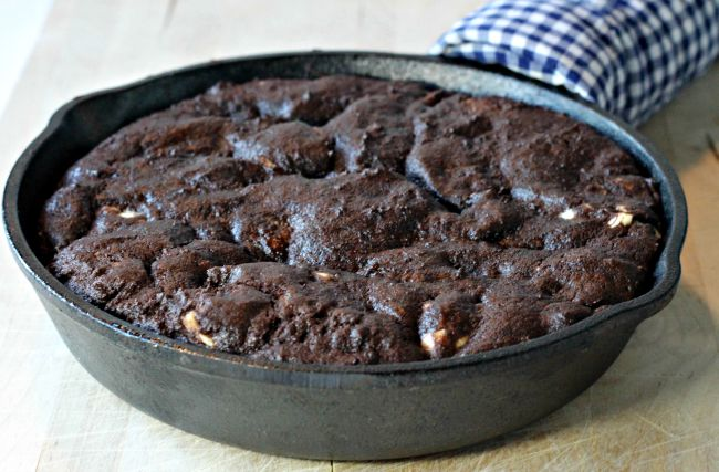 Triple Chocolate Deep-Dish Skillet Cookie - Cooking By Laptop