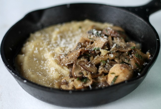 mushrooms and polenta ottolenghi