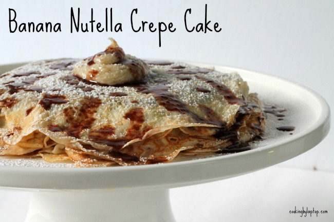 Banana Nutella Crepe Cake Cooking By Laptop