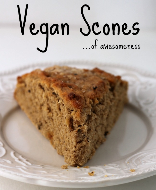 Vegan scones made with sweet potato puree and chai spices.