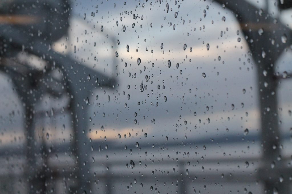bc ferries on a rainy day
