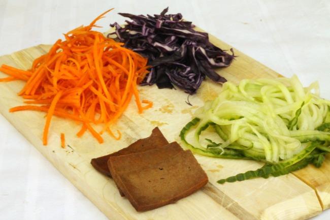 ingredients for vegan salad rolls
