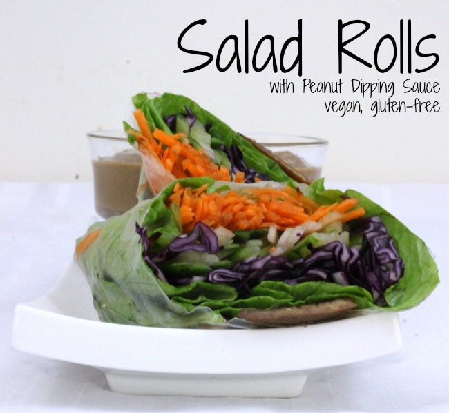 salad rolls with peanut dipping sauce vegan gluten free