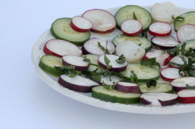 Radish and Cucumber Carpaccio