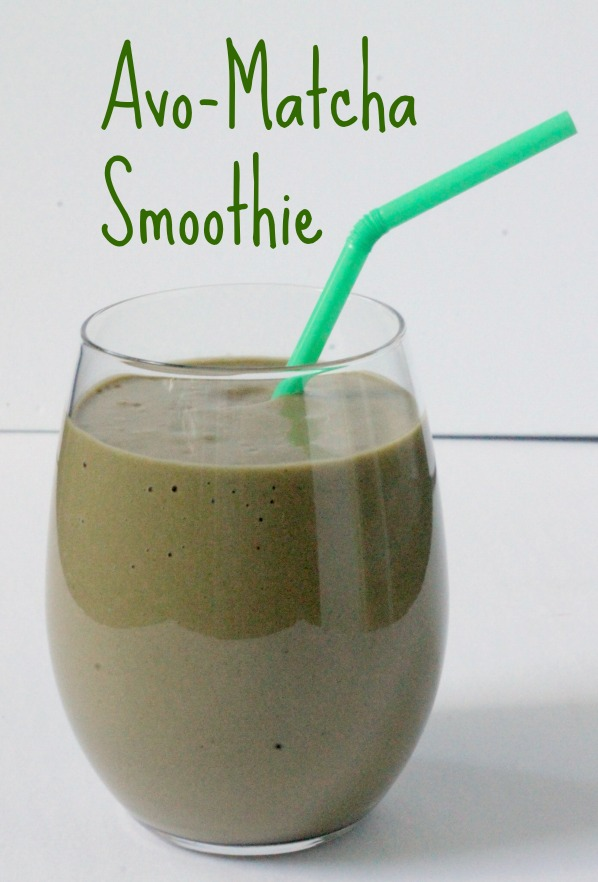 avocado matcha smoothie