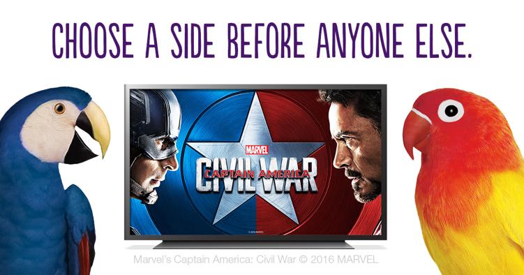 captain america civil war telus optik tv