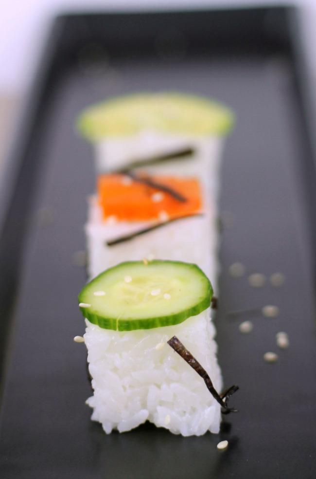 rice cube vegan sushi