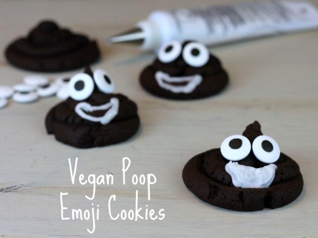 Poop emoji vegan