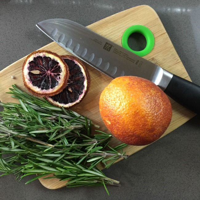 rosemary blood orange cocktail