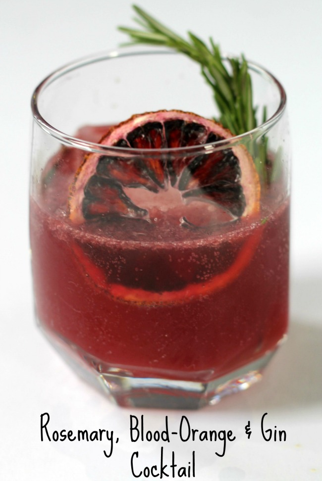 rosemary blood orange gin cocktail