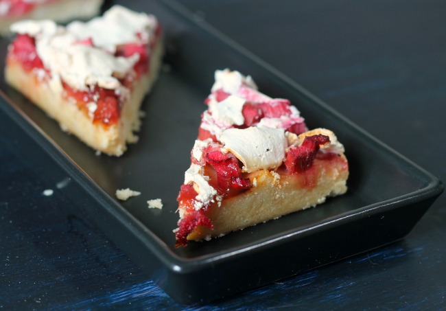 Rhubarb Meringue Bars Vegan Aquafaba