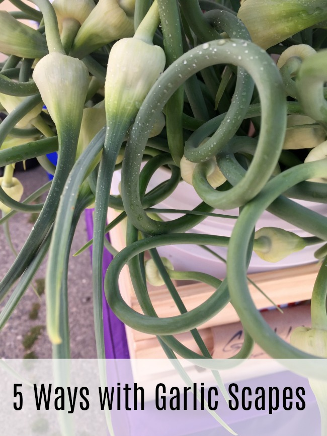 5 ways with garlic scapes