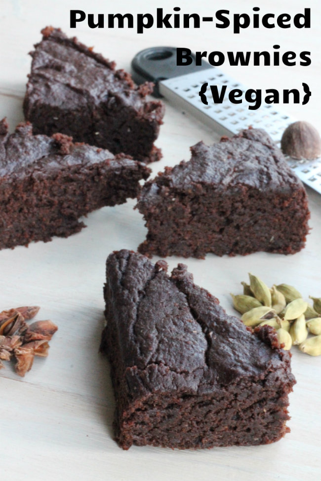 Pumpkin Spiced Brownies Vegan