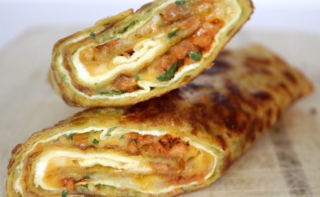 Tortilla-Egg Roll-Ups