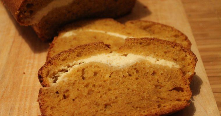 Cream-Cheese Layered Pumpkin Loaf
