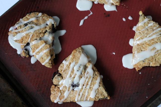 blueberry lemon scones vegan