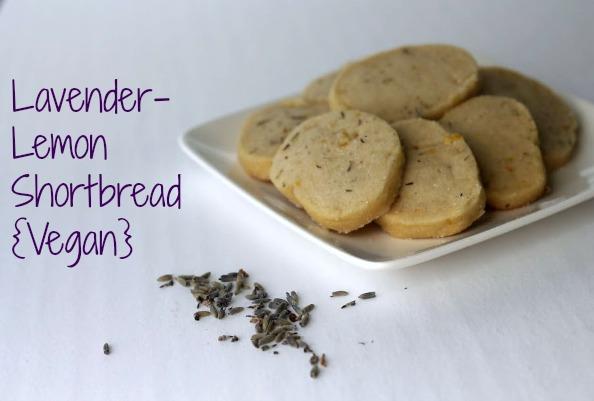 Lavender Lemon Shortbread [Vegan]