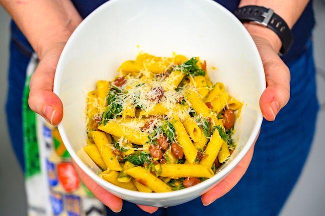 Rapini and Barlotti Bean Pasta (with @PastaBoyPeter)