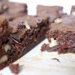 Chocolate Walnut cookie Bars LivB Vegan on a budget