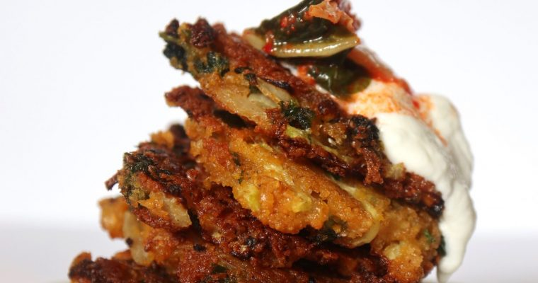 Red Lentil Fritters {Vegan, Gluten-Free}