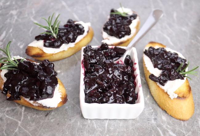 Blueberry Goat Cheese Crostini
