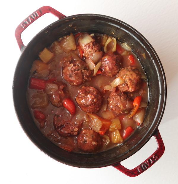 Sweet & Sour Meatballs {Vegan}